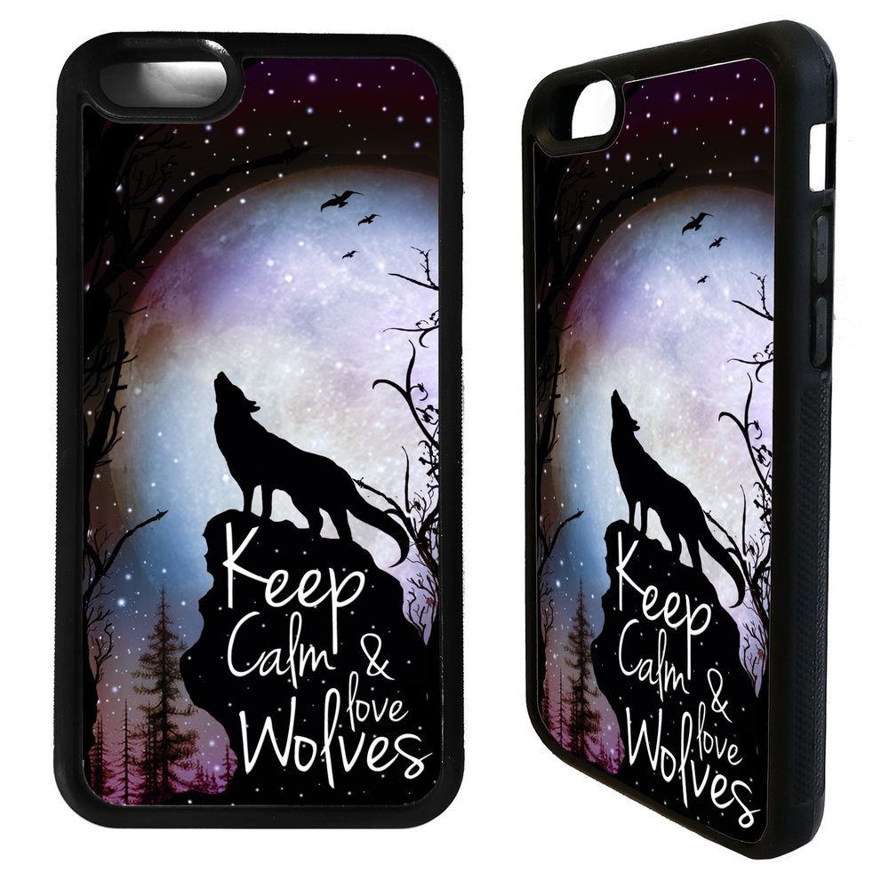Keep calm & love wolves wolf phrase case cover for iphone