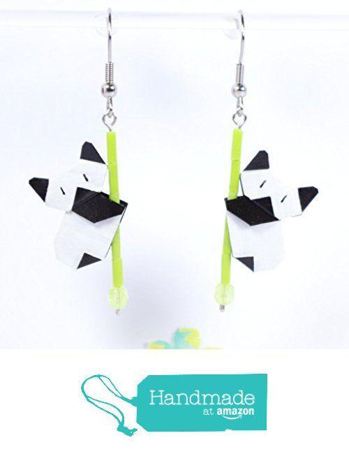 Boucles d'oreilles pandas éveillés en origamis - crochet inox à partir des LePaslaid https://www.amazon.fr/dp/B01M1S73G8/ref=hnd_sw_r_pi_dp_Y0G7yb4CQFXF9 #handmadeatamazon