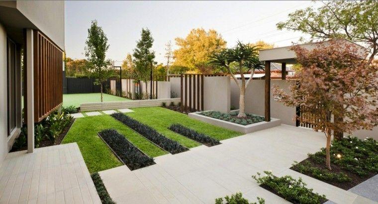Aménagement extérieur maison jardins dentrée modernes