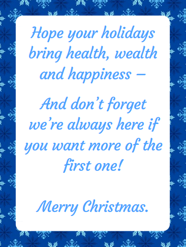 Christmas Messages from Doctors Offices: Examples ...