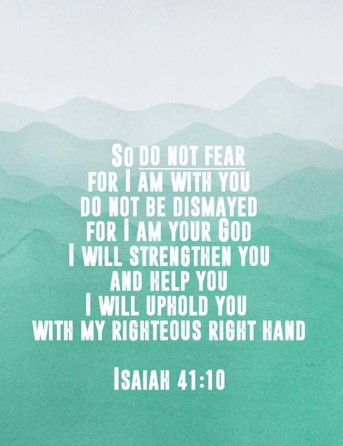 Isaiah 4110 Free Printable Ogt Blogger Friends Bible Verses