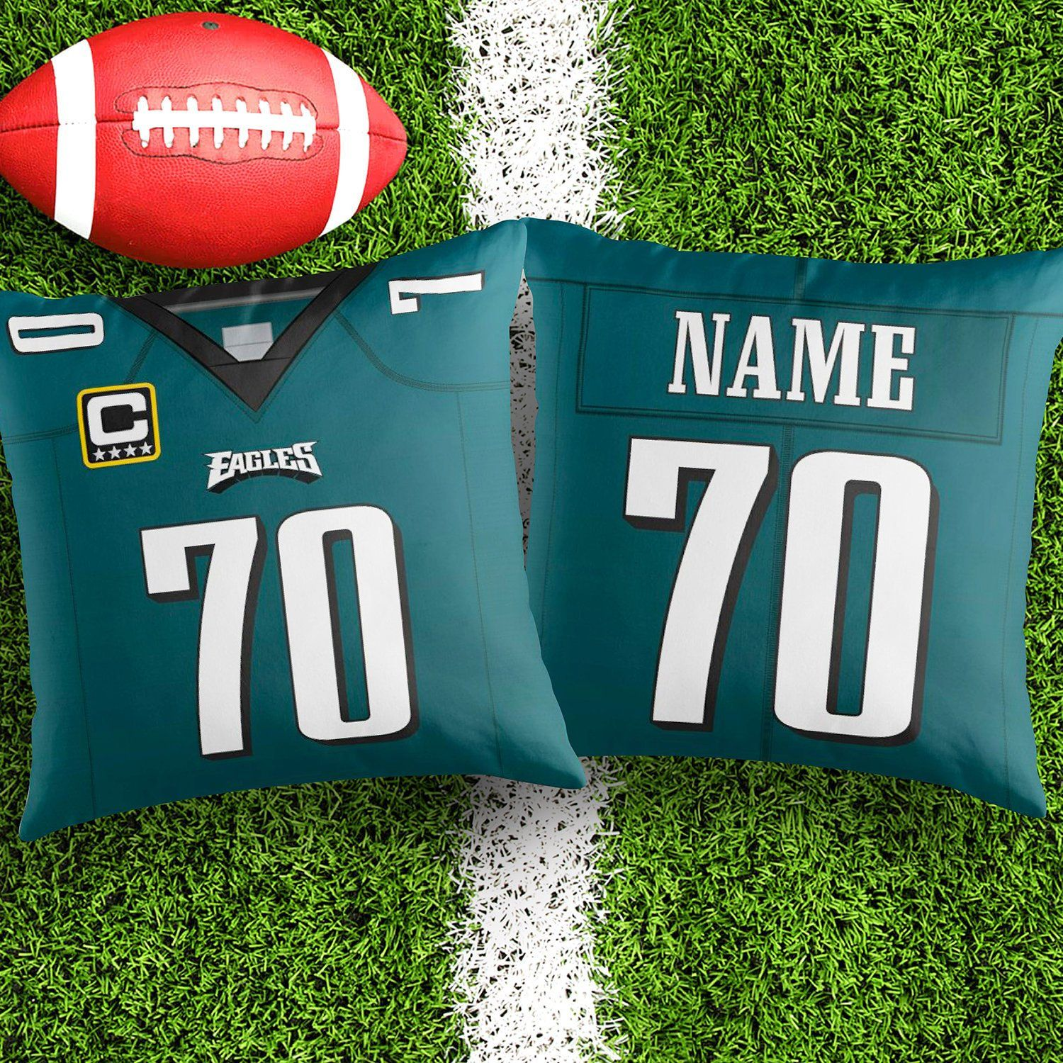 timeless design 183de a284c Personalised Philadelphia Eagles Jersey Throw Pillow Cushion ...