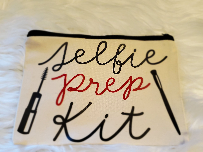 Selfie Prep Kit Makeup BagCanvas BagFunny Make Up Bag