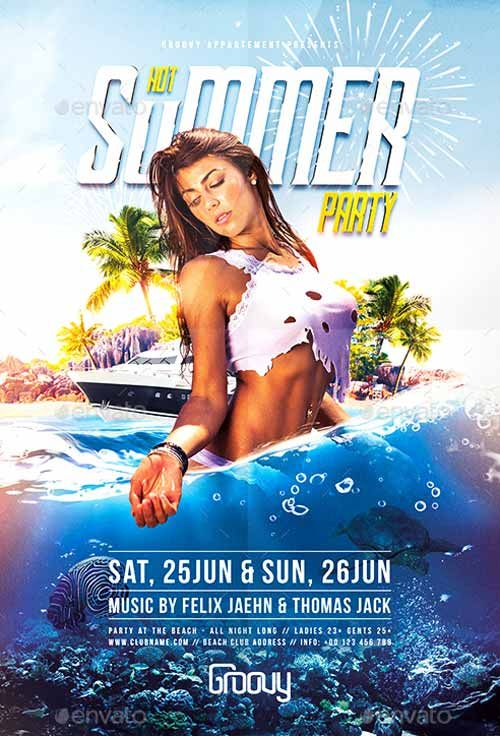 Hot Summer Party Flyer Template - Http://Ffflyer.Com/Hot-Summer