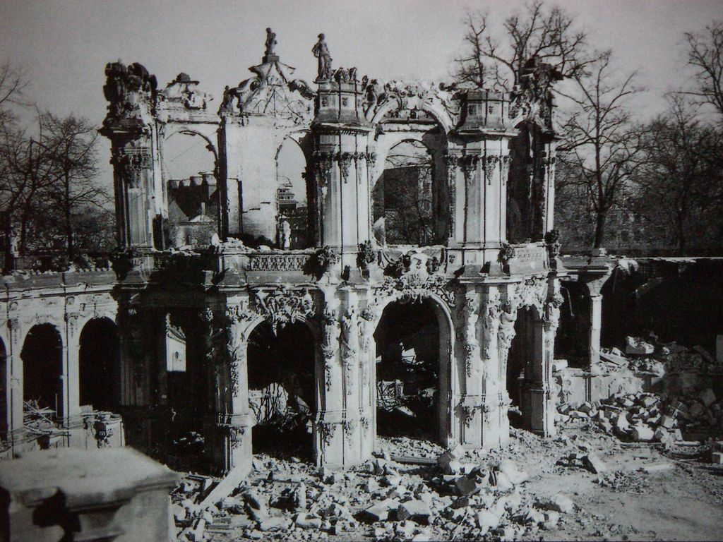 Wreck Of The Wall Pavillion Dresden Zwinger 1945 Dresden Germany Poland Germany