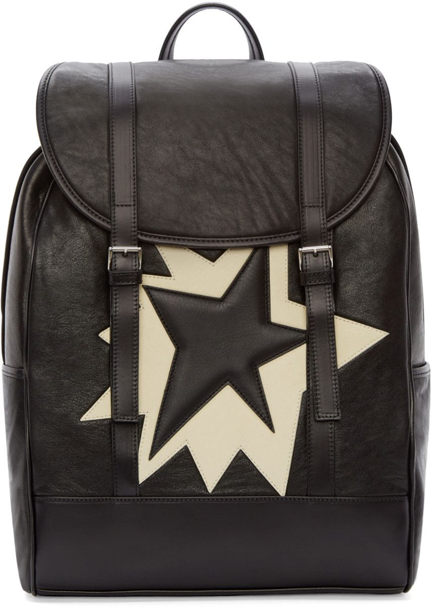 Nei Barret - Black & White Leather Pop Art Backpack