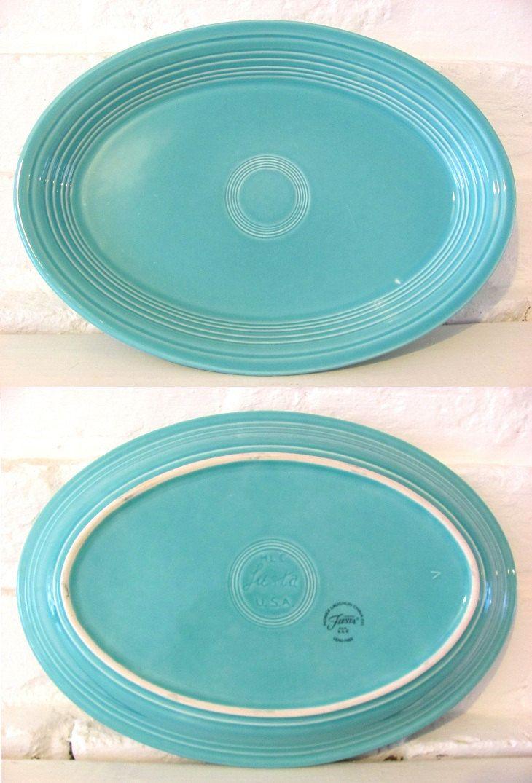 Vintage Fiesta Platter Colourful Dinnerware Large Oval In