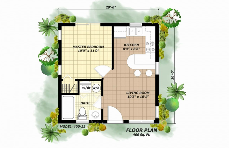 Small House Plans Under 400 Sq Ft East Facing 400 Sq Ft House Tiny House Floor Plans Cottage Style House Plans