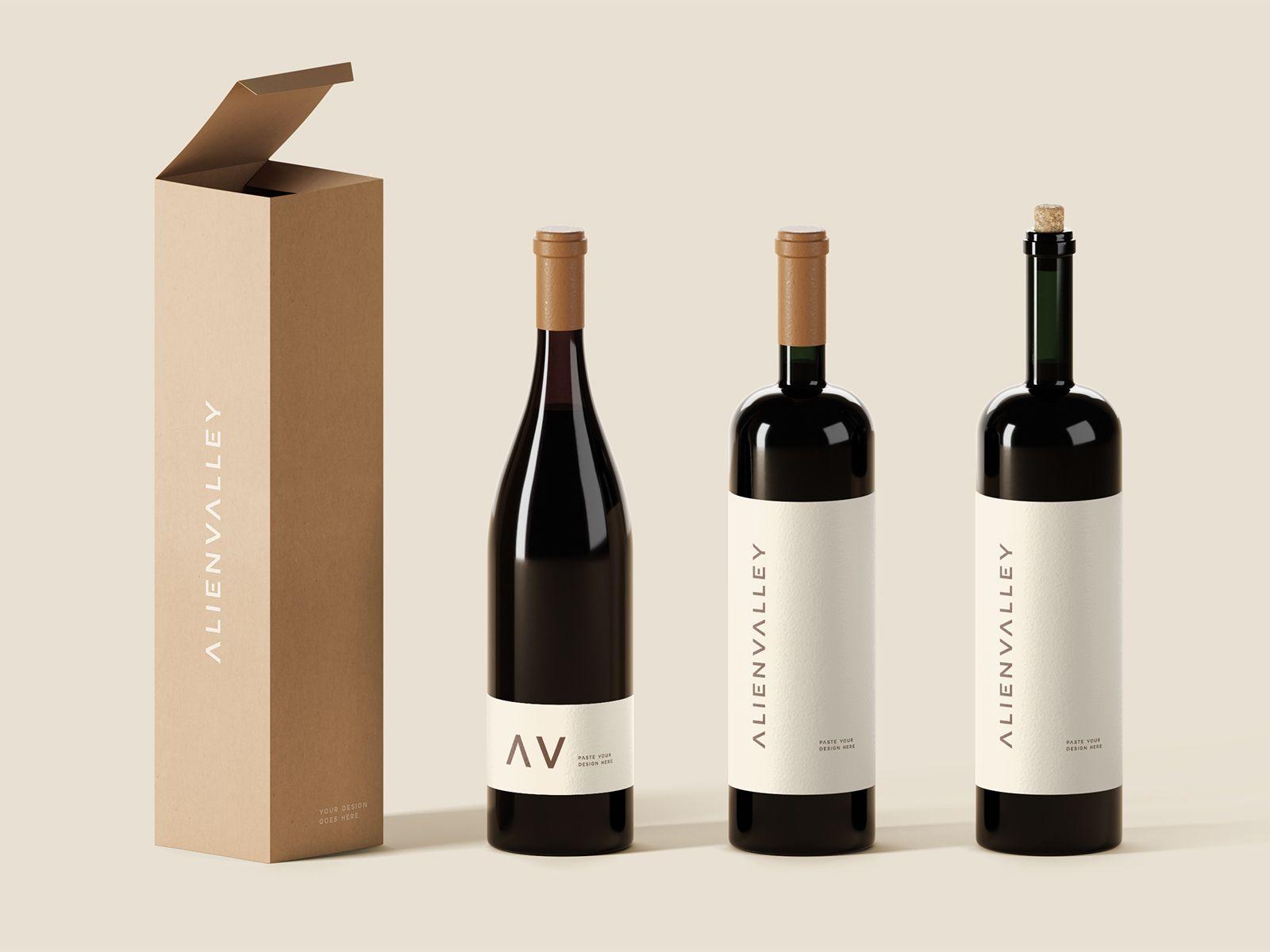 Download Freebie Wine Bottles Mockup Wine Bottle Bottle Mockup Elegant Wine Bottle