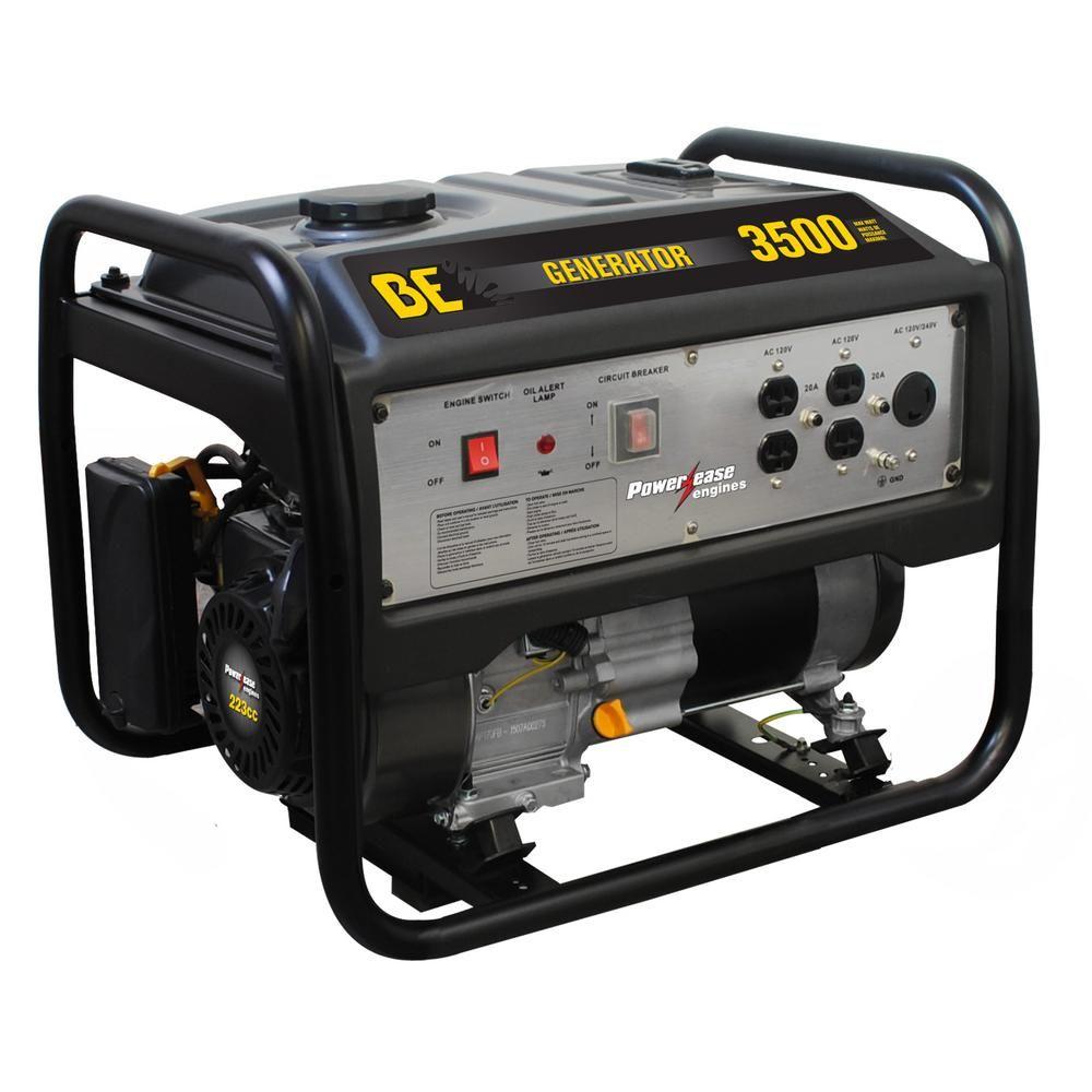2800 Running Watt Output Gasoline Powered Manual Start Portable Generator Be3500ps The Home Depot Portable Generator Portable Inverter Generator Gas Powered Generator
