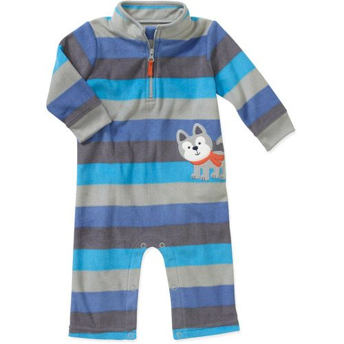 Walmart Baby Boy Clothes Extraordinary Child Of Minecarters Newborn Boys' Mock Neck Stripe Dog Romper Design Inspiration