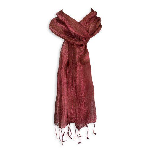Red Blossom Women's Scarf - Raw Silk for only $8.95 You save: $1.00 (10%)