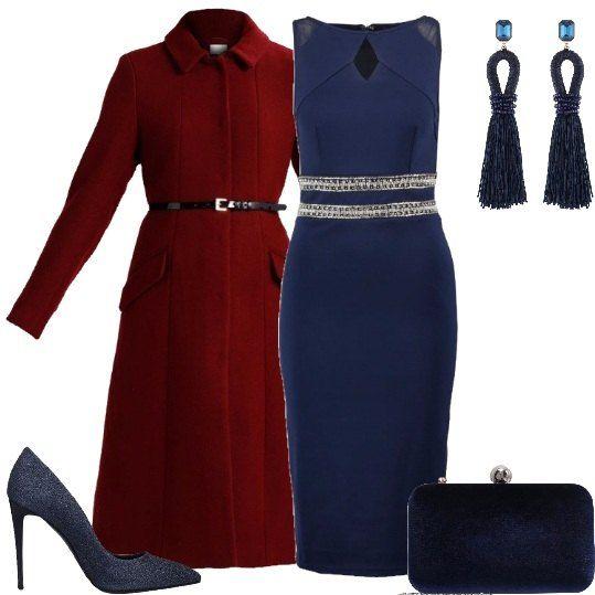 buy online e1b3e 15000 Vestito a tubino lungo sotto le ginocchia con vita ...