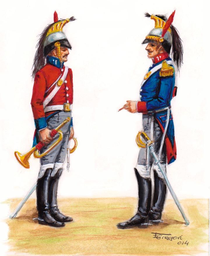 Tromba e ufficiale del rgt. del re