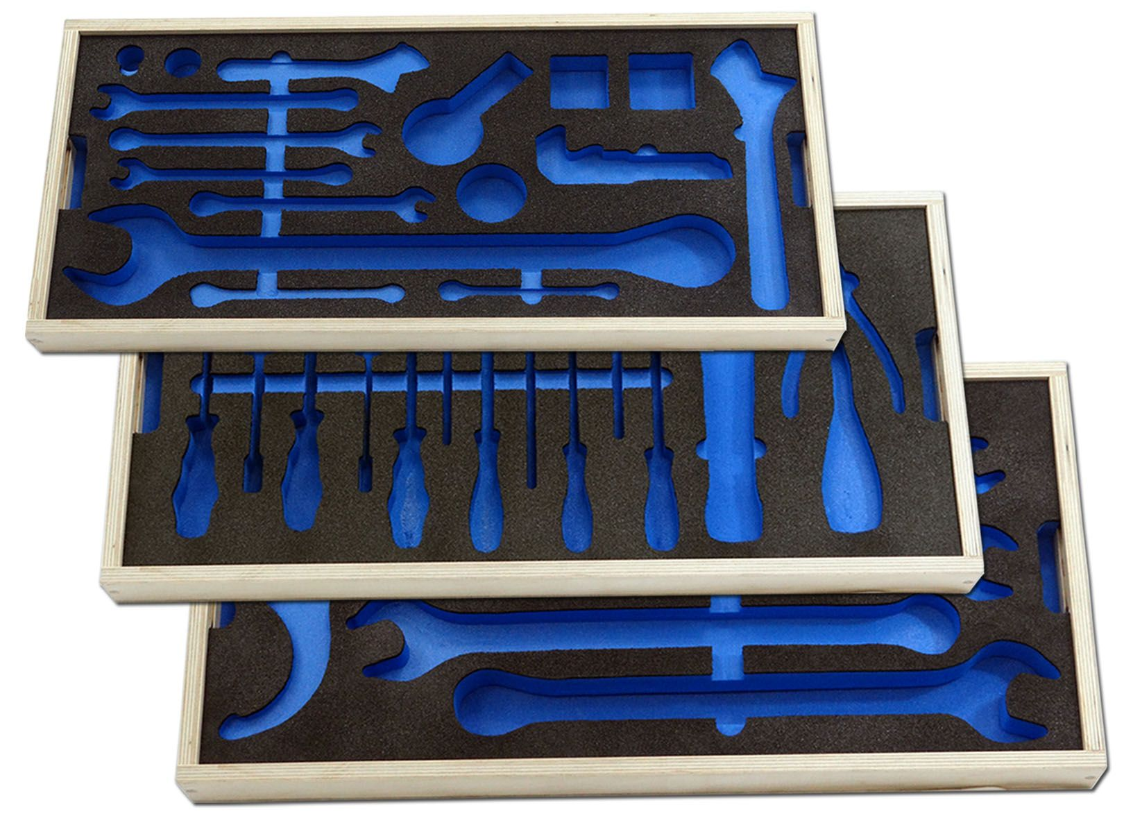CNC Routed Foam Insert Wooden tool tray with foam shadow boards These fantastic foam