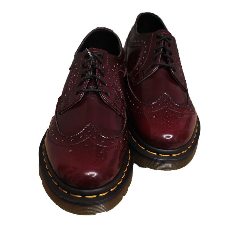 be626650188d Dr Martens 3989 brogue vegan cherry red cambridge brush - Scarpe ...
