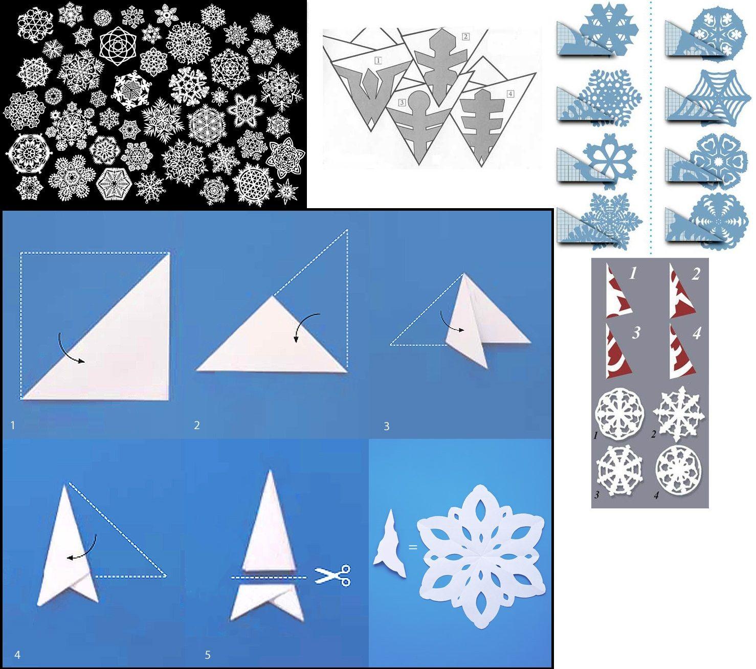 #Natal Flocos De Neve Com Papel