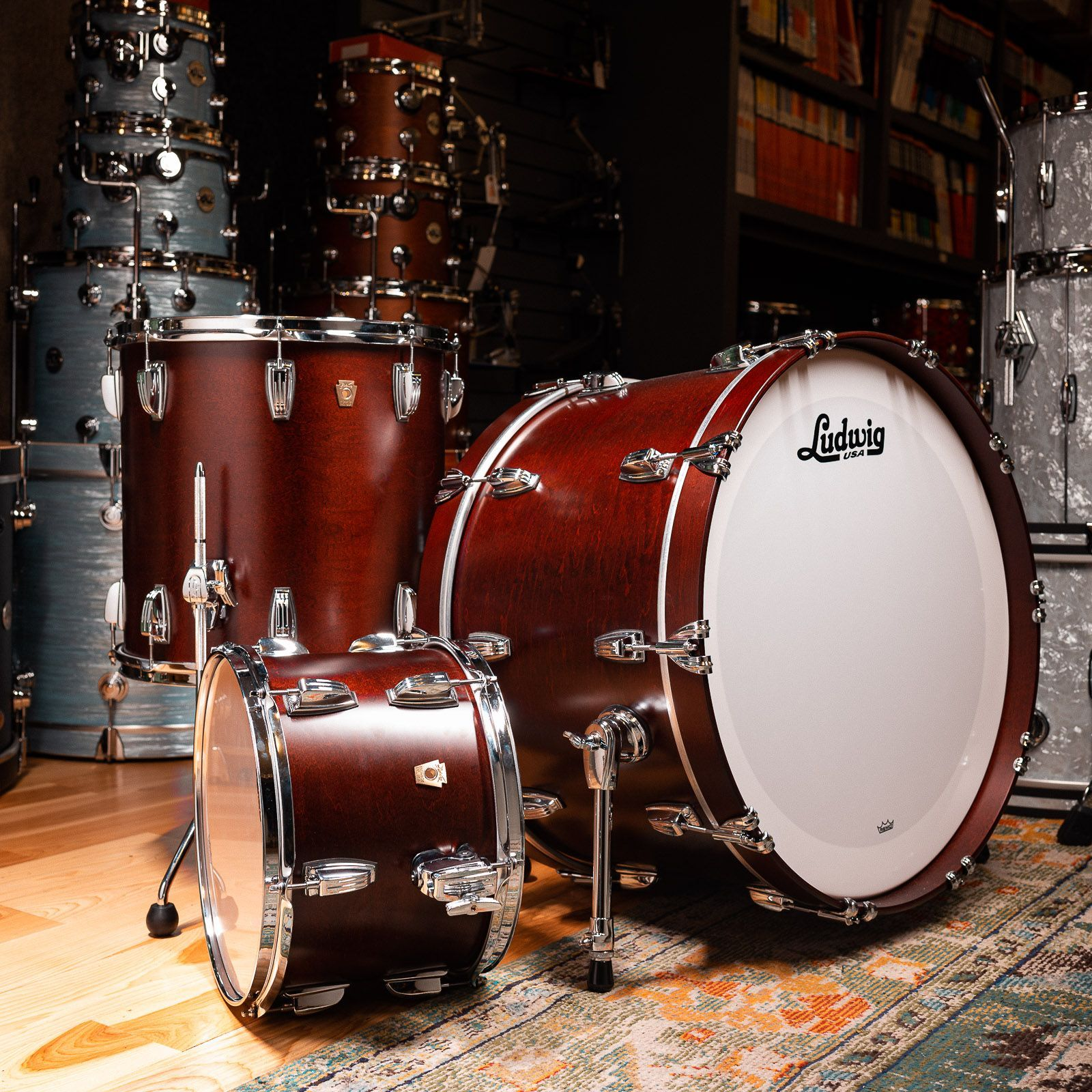 C/&C Cedar//Mahogany Snare Drum 14x7 Satin Natural