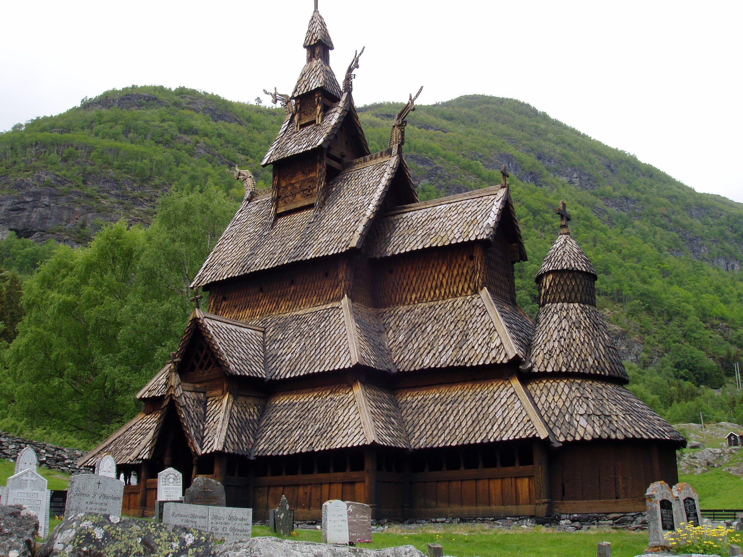 850 year old wooden Church Borgund Norway A Stave
