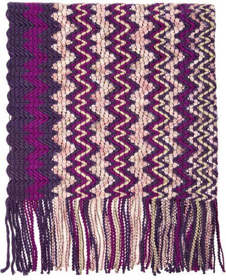 Missoni Patterned bouclé scarf