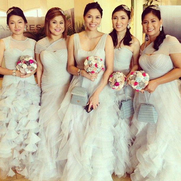 My wedding entourage. Gowns by: jazel sy www.jazelsy.com   jazel sy ...