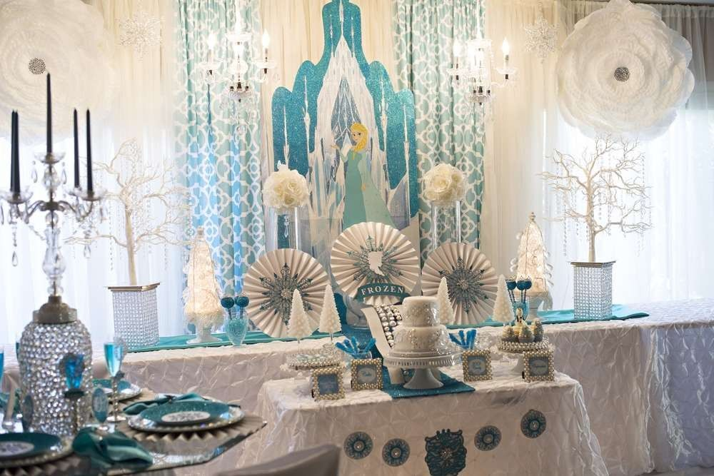 Frozen table ideas Frozen childrens party Pinterest Birthday