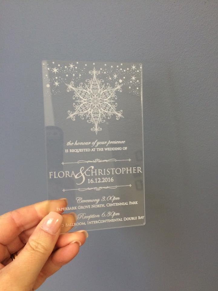 How Magical Do These Clear Acrylic Wedding Invites Look