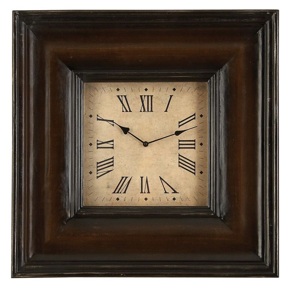 Aspire Oversized 17 Square Wall Clock Square Wall Clock Wood Clocks Traditional Wall Clocks