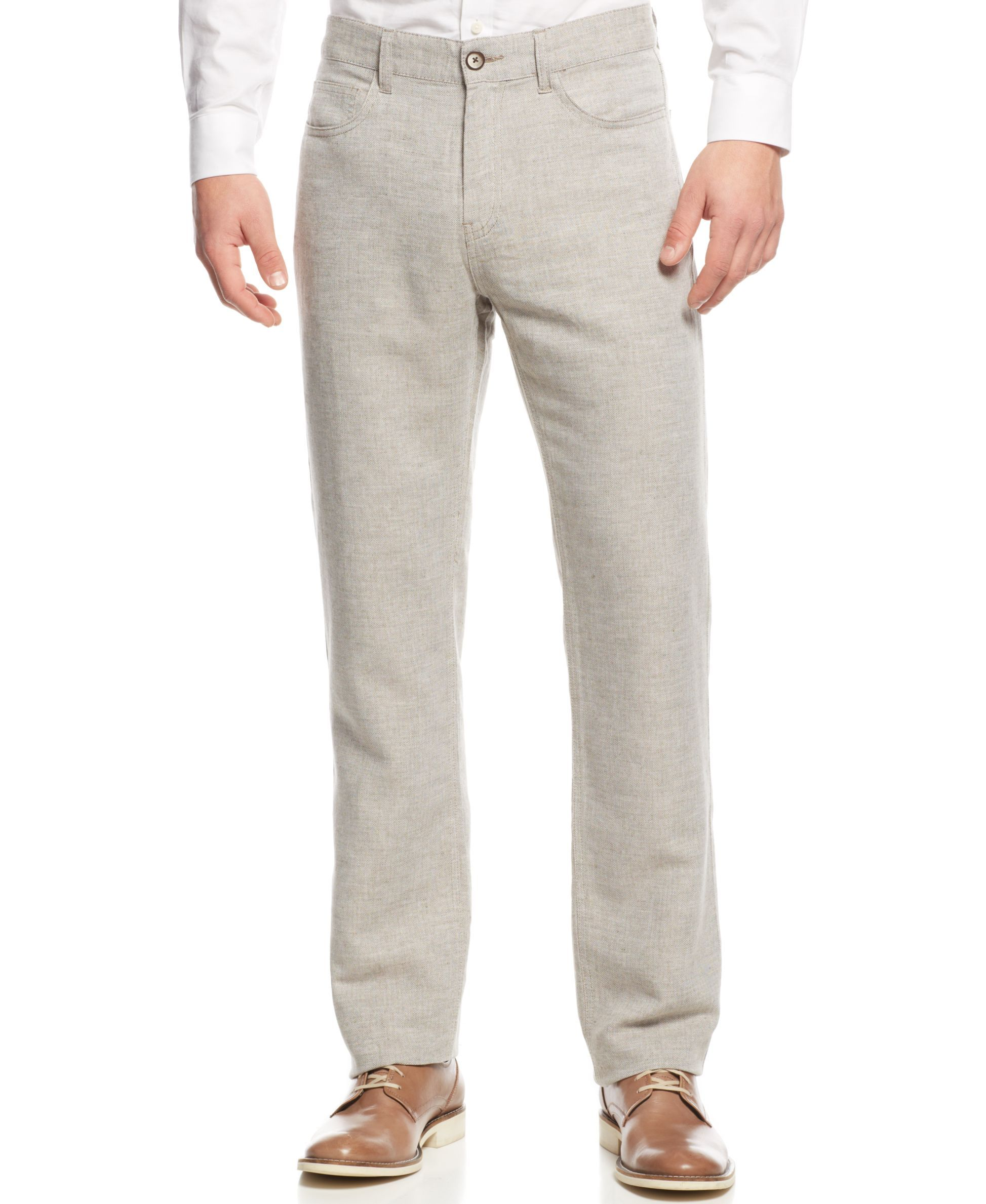 Tasso Elba Washed Linen-Blend Pants | Products | Pinterest | Elba ...