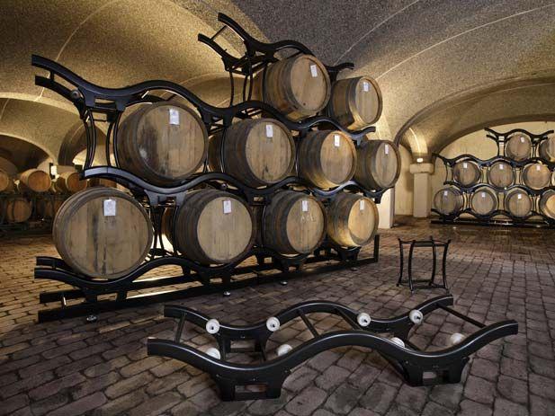 barrel racks wine barrel
