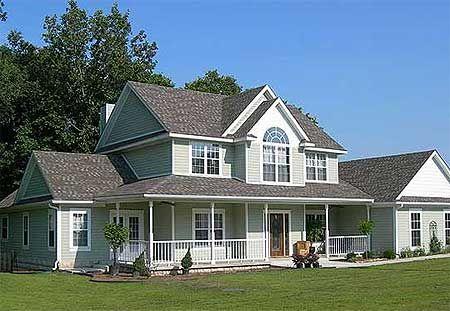 Casa estilo campestre estilo country pinterest house for Fachadas de casas modernas tipo americano