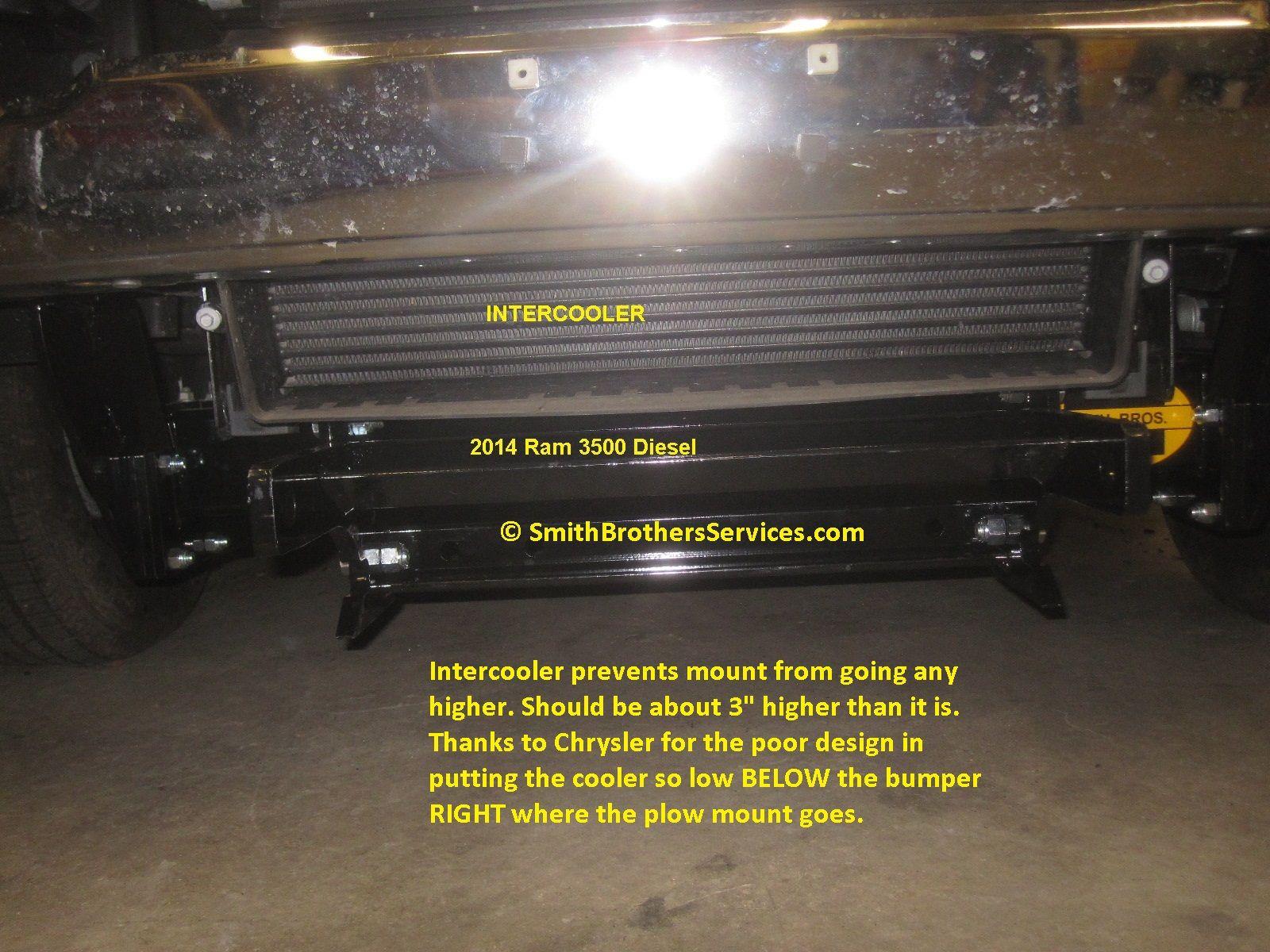 2014 Ram 3500 Diesel Dodge Put The Intercooler So Low It Is In The Way Of The Plow Mount Ram 3500 Diesel Ram 3500 Snow Plow