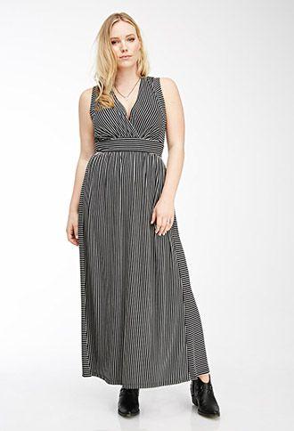 Striped Surplice Maxi Dress Forever 21 Plus 2000055713 Greek