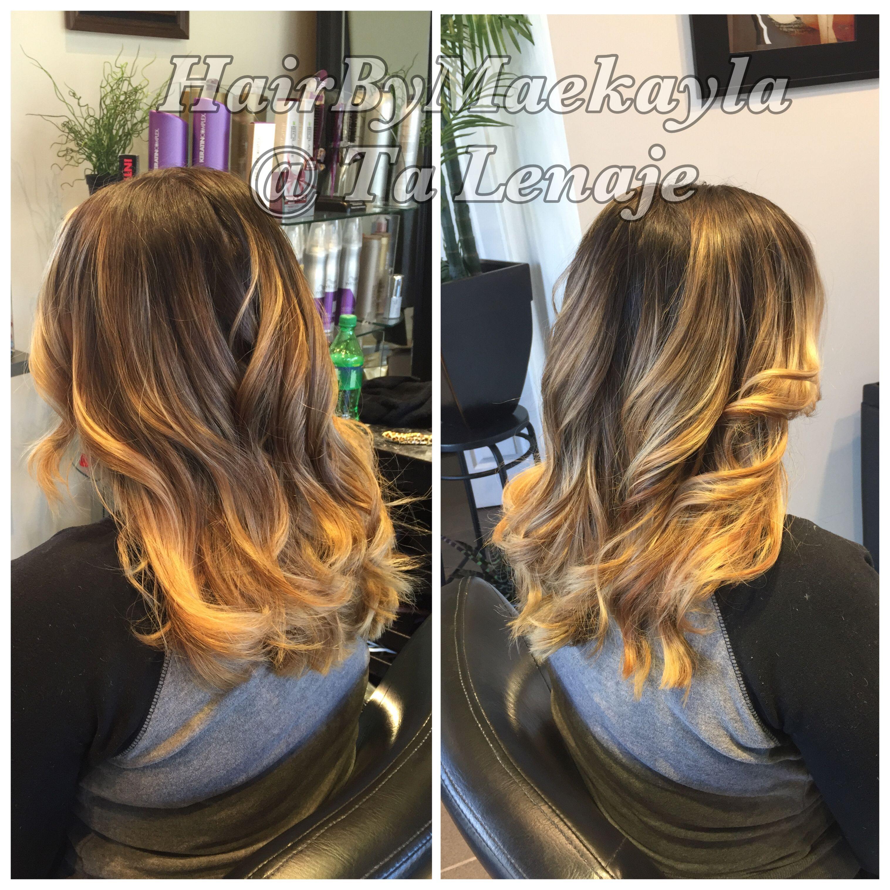 Balayage ombré highlights  Hair by Maekayla  Salon Fauntleroy