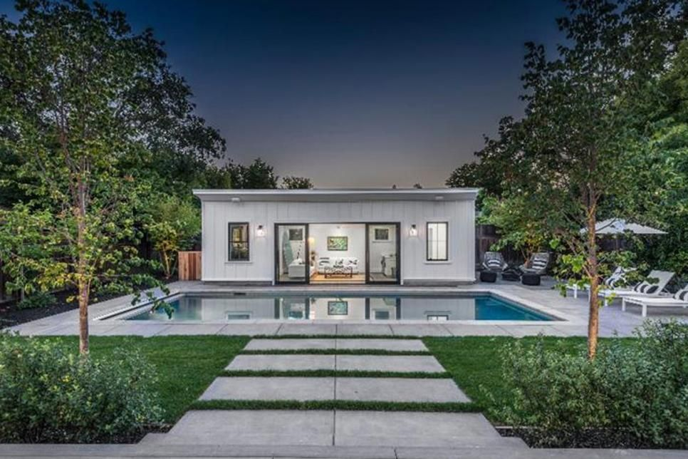 Updated Farmhouse with Breezy, Coastal Feel Small pool