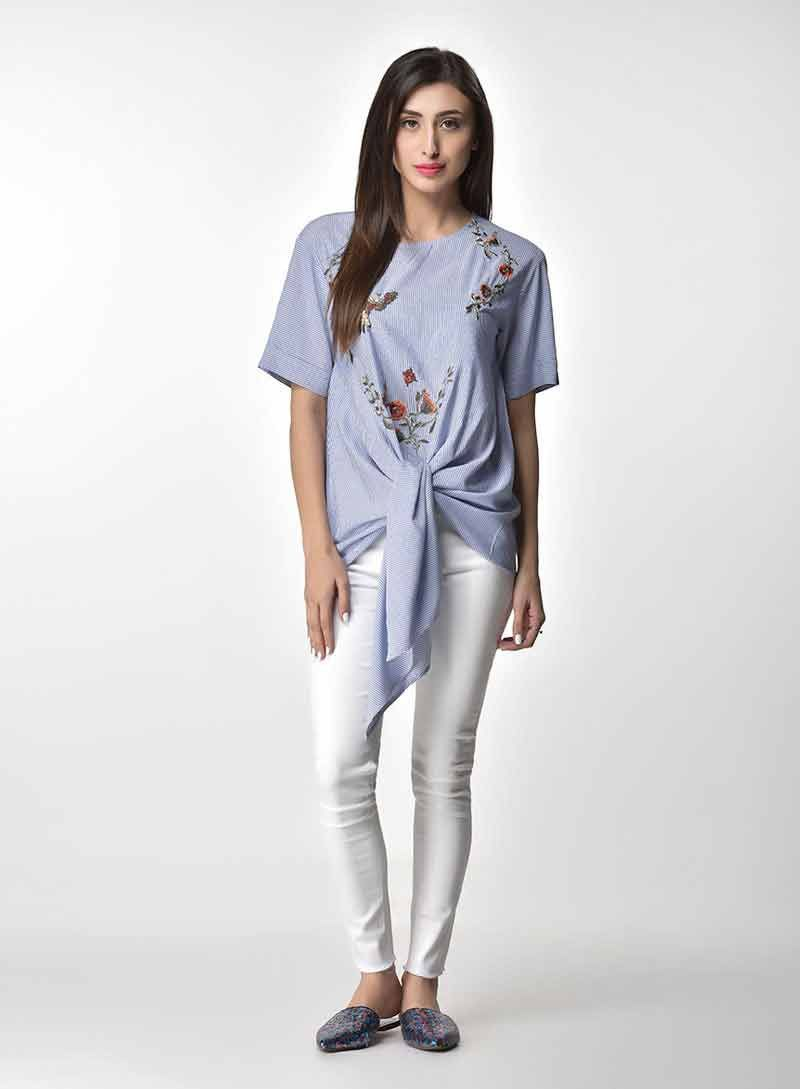 Pakistani Casual Tops And Shirt Designs For Girls  Shirt -7969
