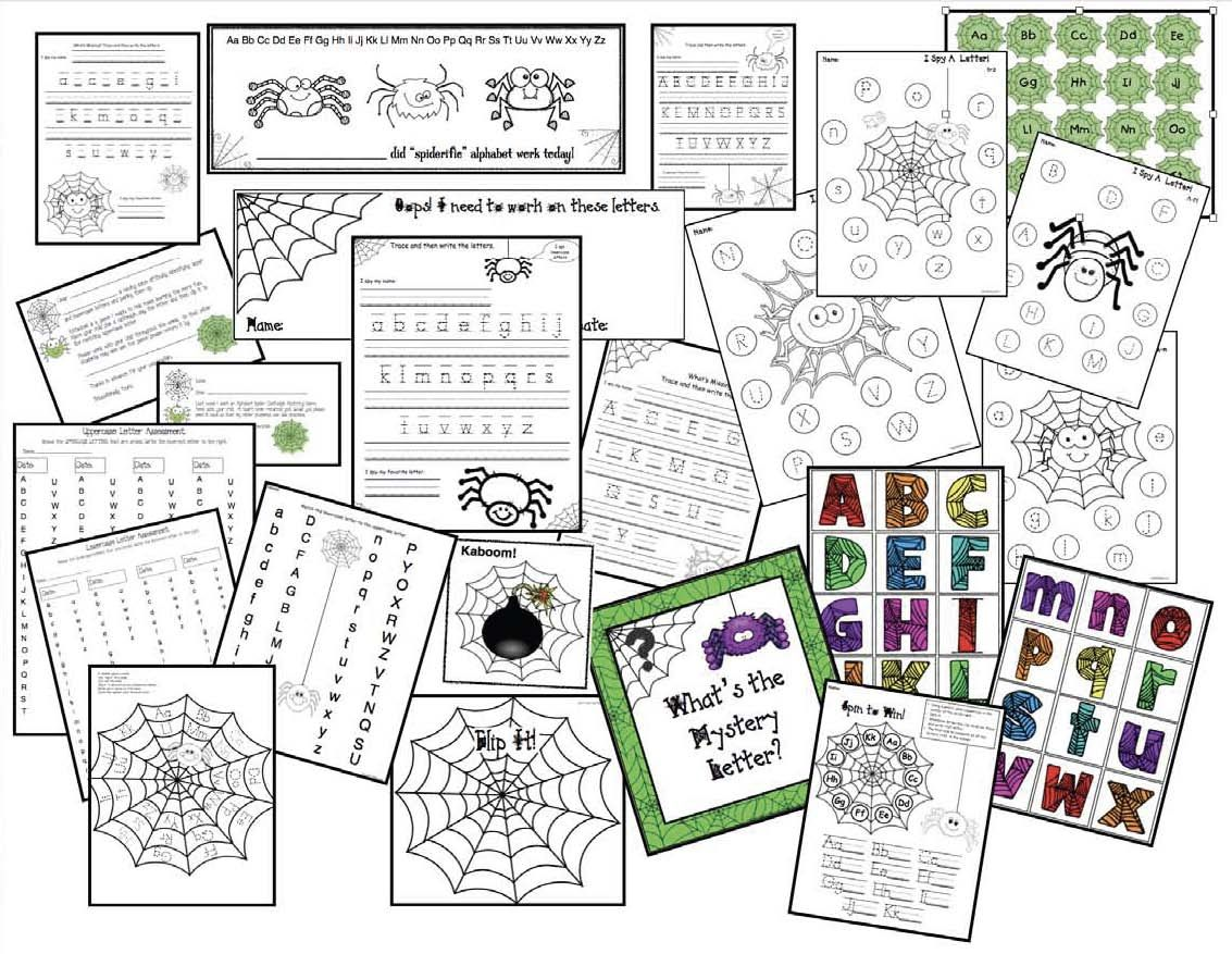 Spider Themed Alphabet Activities