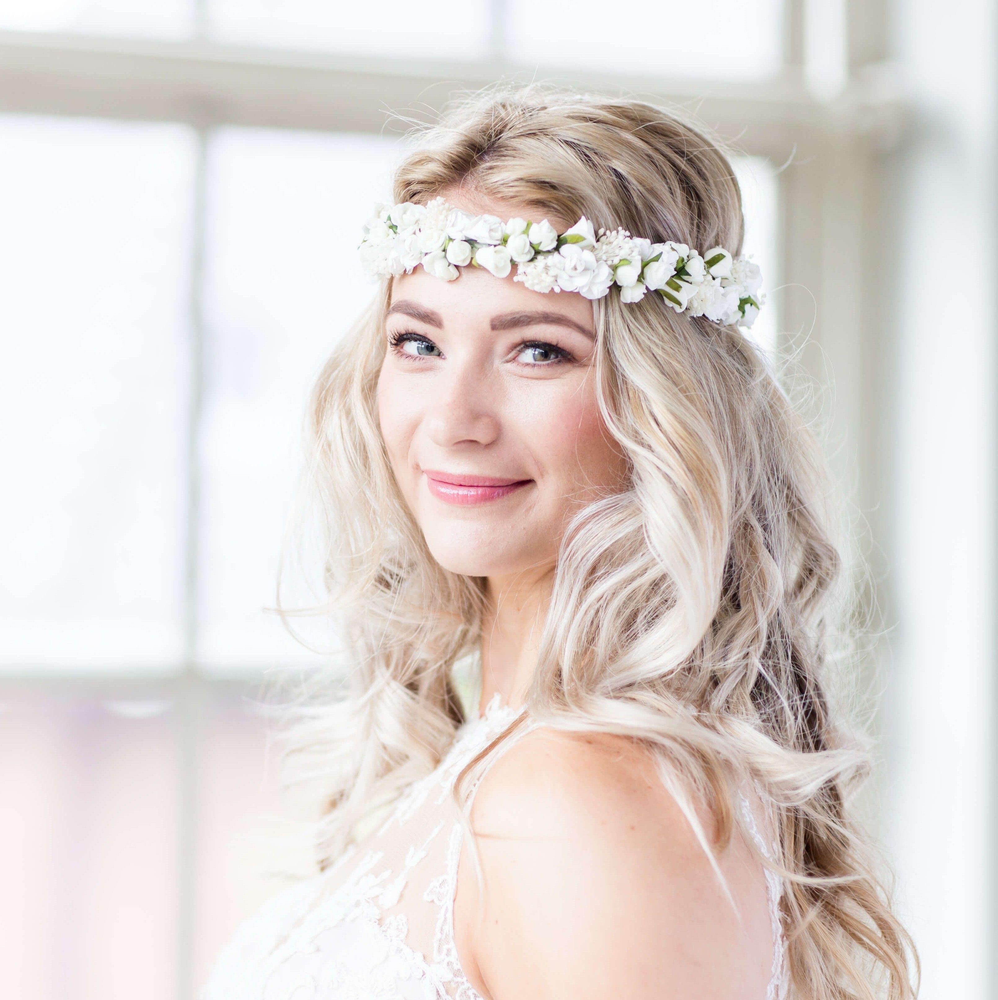 €119 Roses Headband Bruidskapsel Haaraccessoire Haarsieraad Bruid ...