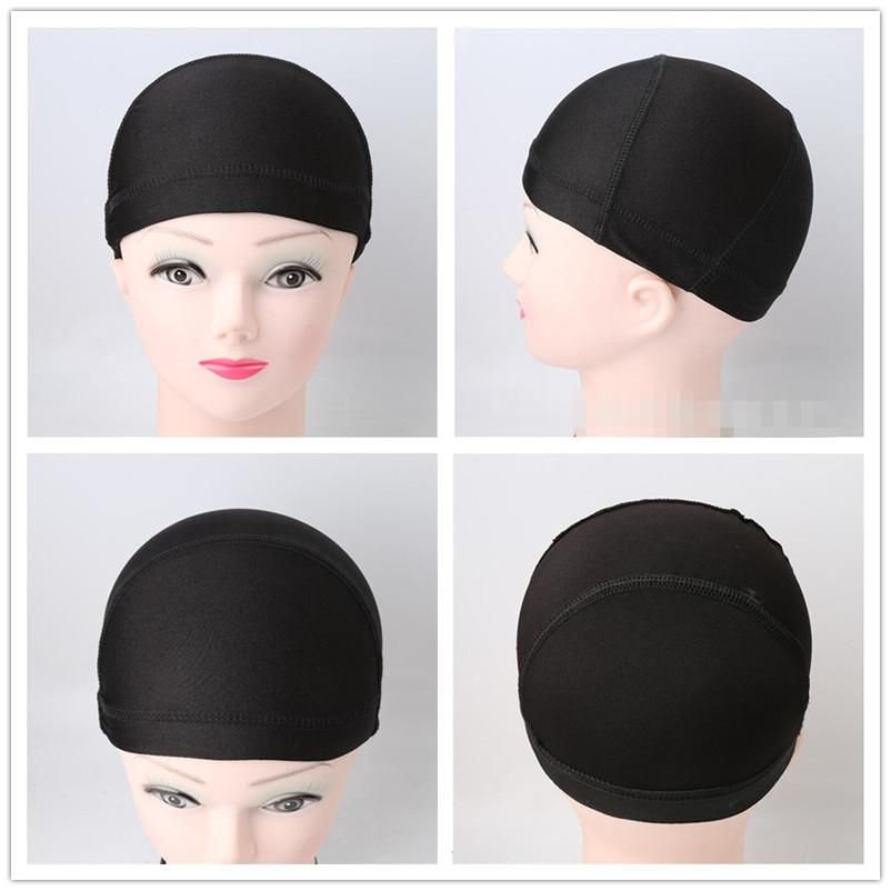1pcs Cheap Weaving Caps Spandex Dome Wig Cap For Making Wigs Black