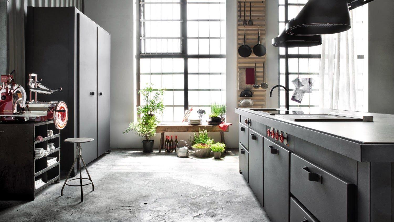 Cuisine industrielle minacciolo inspiration industrielle loft industriel loft d coration - Cuisine industrielle design ...