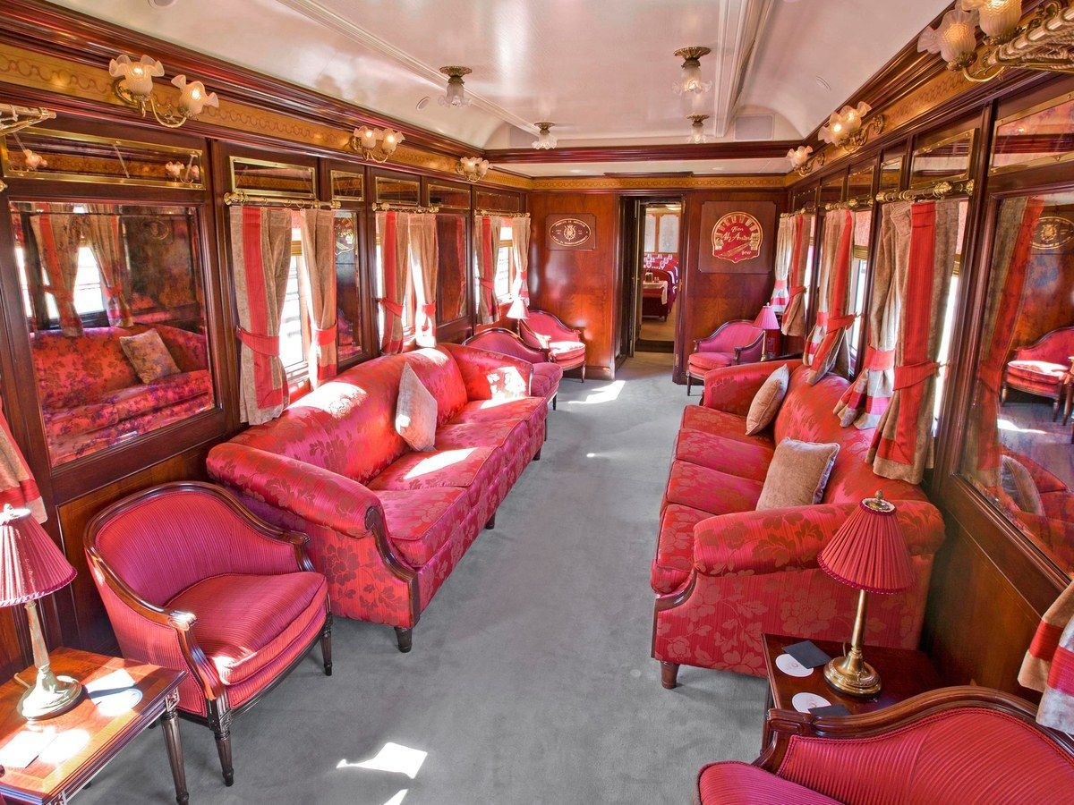 Travel In Style On The World S Most Luxurious Trains Luxury Train Luxurious Luxury Style Train Trains Travel In 2020 Luxury Train Train Vacations Train Travel