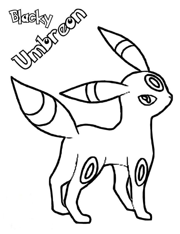 Umbreon Coloring Pages Printable Pokemon Coloring Pokemon Coloring Pages Coloring Pages
