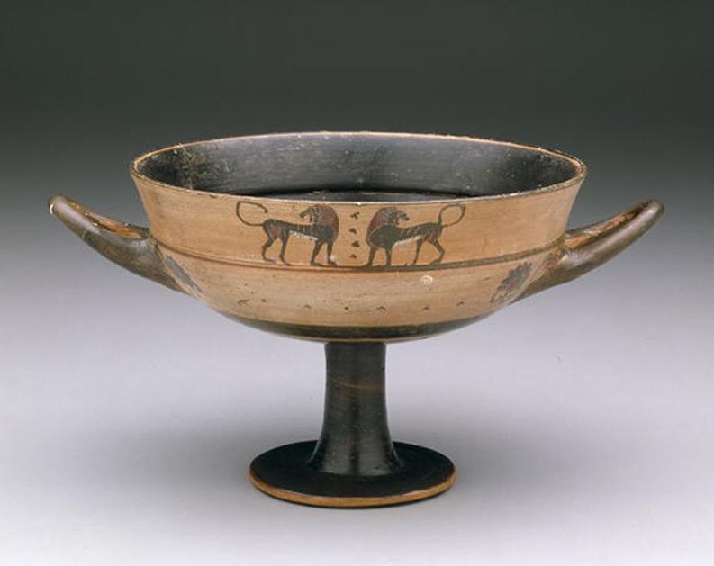 Black-figure lip cup. Date: last half of 6th century B.C. - Greek; Attic