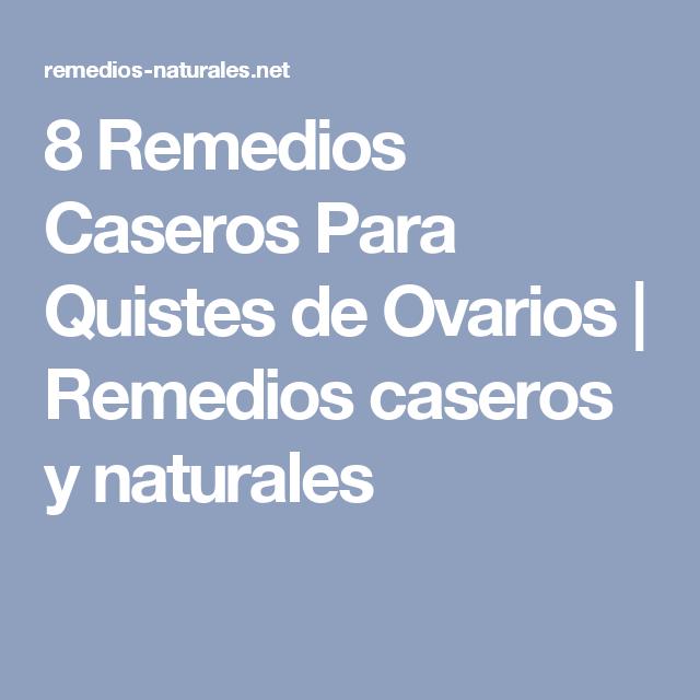 quistes en los ovarios tratamiento medicina natural