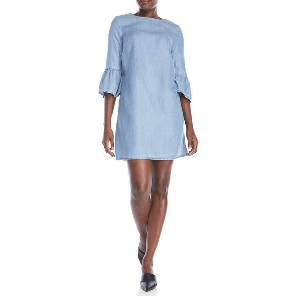 fe846db4ed Beach Lunch Lounge Chambray Shift Dress ( 33) ❤ liked on Polyvore featuring  dresses