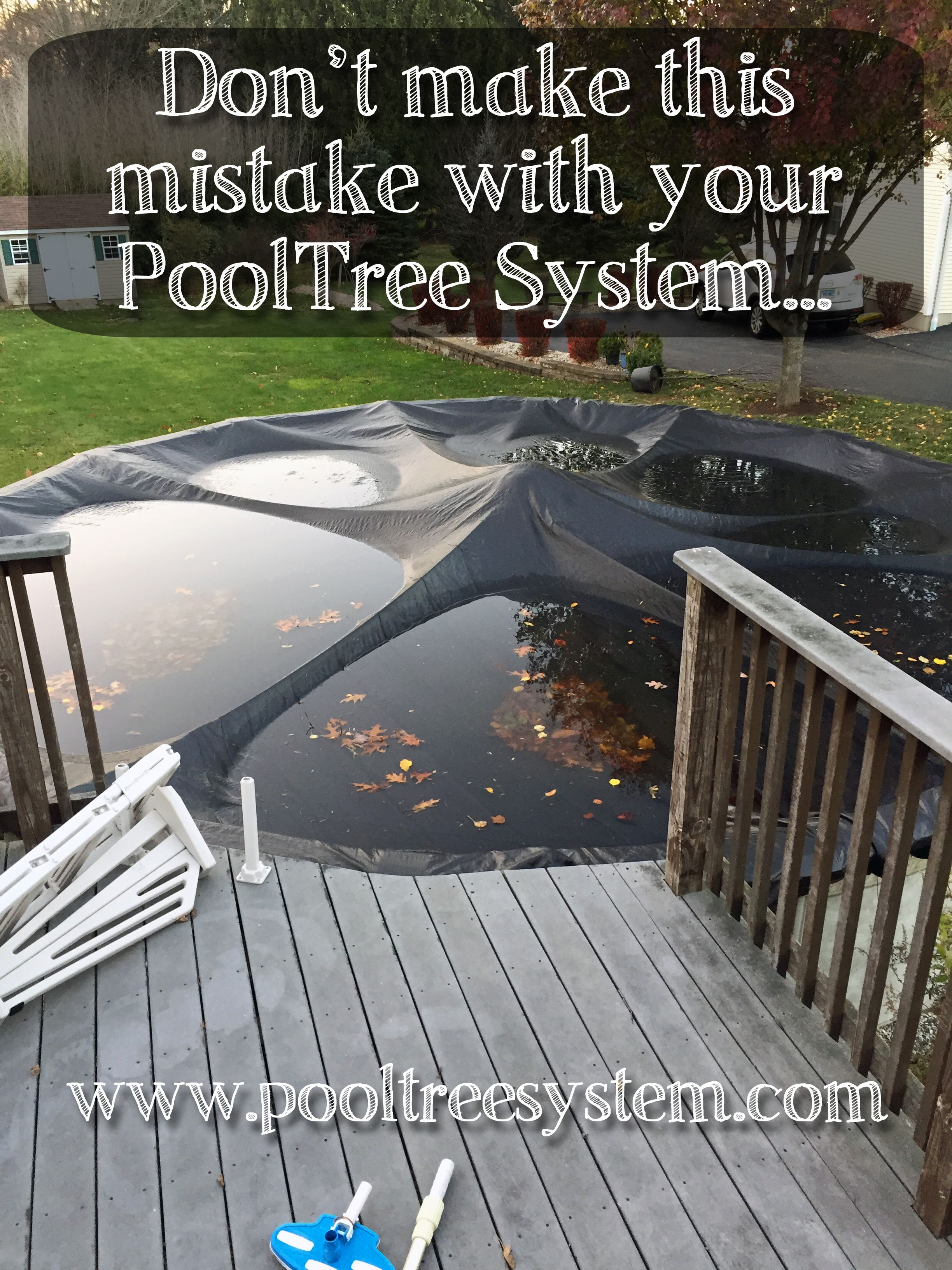 Leave skimmer and returns open... Winter pool covers