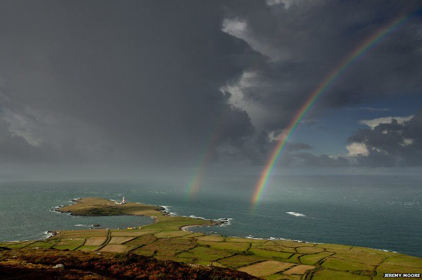 """On occasions the weather played its part. """"One morning I spent an hour on the Mynydd on Bardsey Island as showers passed to the north of me and the sun shone from the south,"""" says Moore. """"A truly memorable experience."""""""