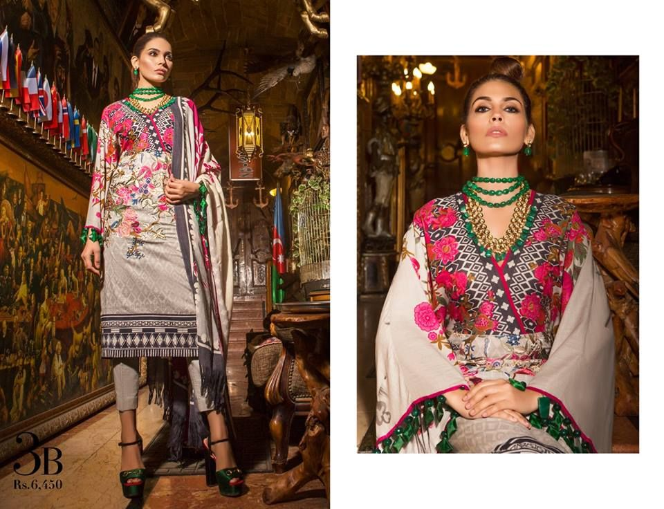 f932bc483d Latest Sana Safinaz Winter Shawl Dresses Collection 2018-2019 ...