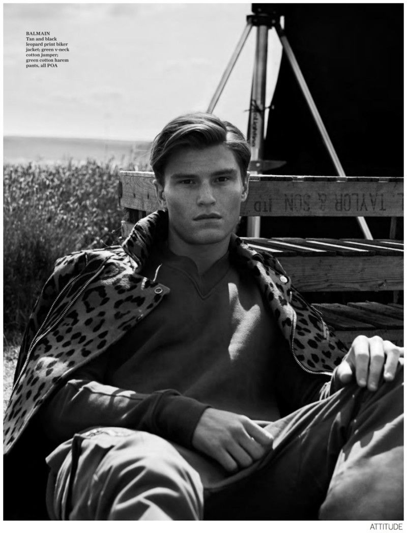 Oliver Cheshire photographed by James White for Attitude September 2014