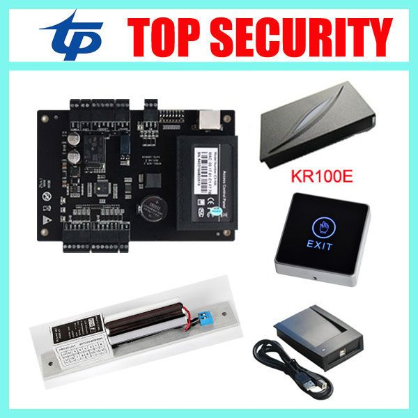 C3 100 Access Control Board Access Control Panel With Weigand Card Reader And Touch Exit Button Good Quality E Access Control System Access Control System Time
